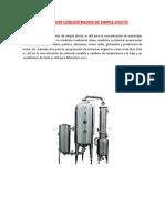 Evaporador Concentrador de Simple Efecto