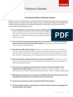 Midmarket Erp Checklist Focus