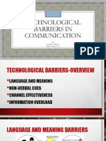 Technological Barriers in Communication