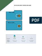 Medidas de Sim Card y Micro Sim Card