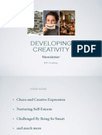 Developing Creativity newsletter 9.27.14