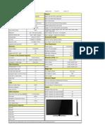 Seiki Se50uy04 4k2k Led Hdtv Data Sheet