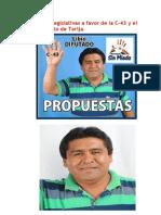 Libio Ayza candidato a diputado por yacuiba y villa montes.