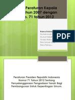 PPT Perbedaan Peraturan Kepala BPN