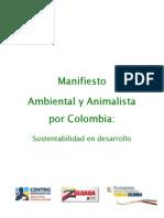 Manifiesto Ambiental y Animalista