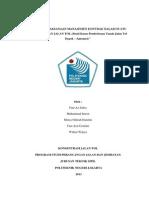Wujud Pelaksanaan Manajemen Kontrak Dalam Suatu Pembangunan Jalan Tol