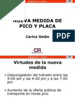 Nueva Medida de Pico y Placa