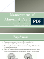 management of abnormal pap smears presentation pptx