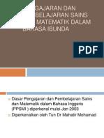 Pengajaran dan Pembelajaran Sains dan Matematik dalam Bahasa Ibunda