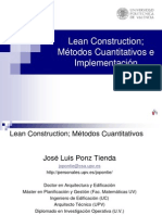 Lean Construction Metodos Cuantitativos e Implementacion