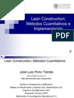 Lean Construction Metodos Cuantitativos e Implementacion