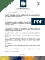 30-11-2010 El Gobernador Guillermo Padrés en conferencia de prensa presentó la iniciativa de ley de participación ciudadana, y firmó otras dos iniciativas que buscan hacer mas eficiente la Seguridad Pública. B1110145
