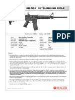 Ruger AR-556 Modern Sporting Rifle Spec Sheet