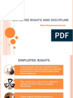 Employee Rights & Discpline
