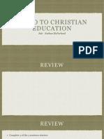 educ310  intro to christian education 4