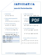 10 Casos de Factorizacic3b3n Gcmatematica