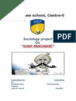 Socio Project Khap Panchayat