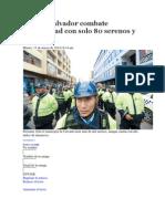 Villa El Salvador Combate Inseguridad Con Solo 80 Serenos y 20 Motos