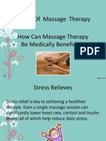 Benefit of Massage Therapy