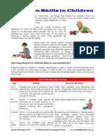 Attention Skills in Children