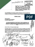 (PL) Prórroga del beneficio de reintegro tributario a los comerciantes de la selva