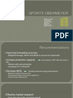 Supply Chain analysis of sports obermeyer
