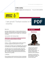 [Amnesty] I am proof. Torture exists.