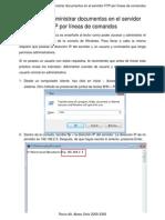 Acceder y Administrar Documentos en El Servidor FTP Por Líneas de Comandos