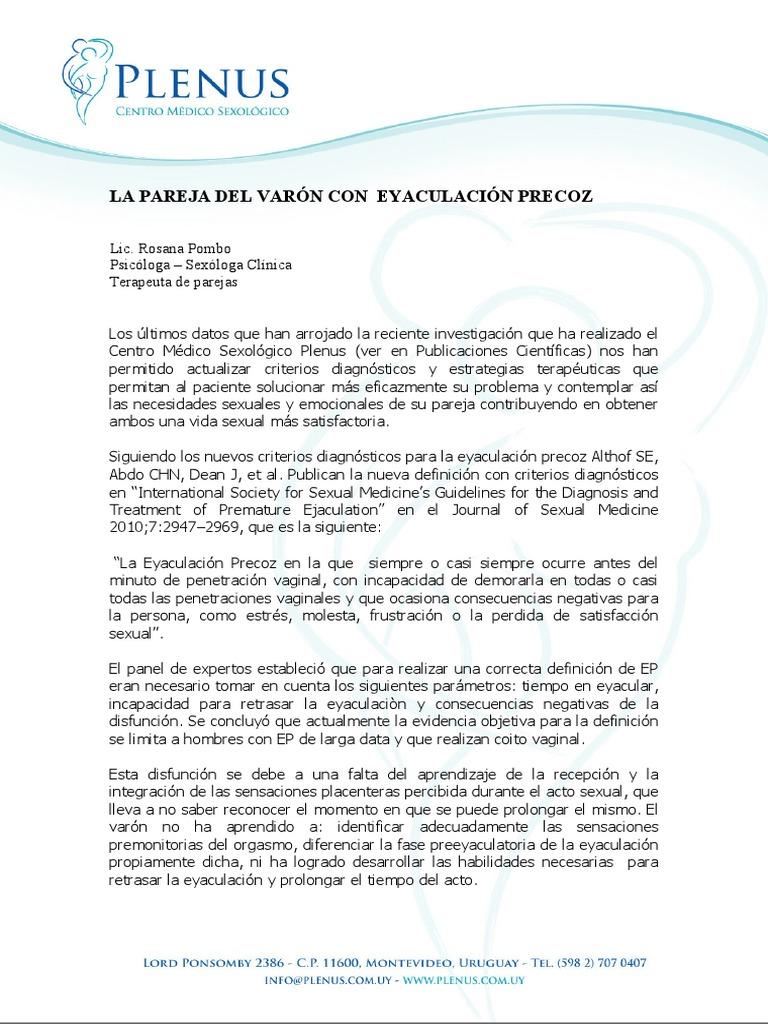 eyaculacion precoz uruguay en