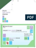 11-7-14 - Oral Cancer Seminar Dallas