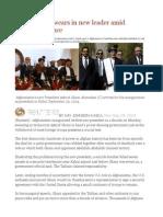 Afghanistan Swears in New Leader Amid Dispute, Violence