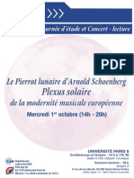 Flyer Pierrot Lunaire
