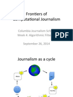 Algorithmic Filtering. Computational Journalism week 4