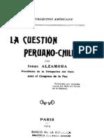La Cuestión Peruano-chilena - Alzamora