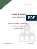 Guia Docente 329171103 - Fundamentos de Quimica - Curso 1415
