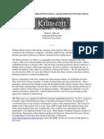 Milevski PUL Kelmscott Article