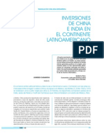 Inversiones China India en Americalatina