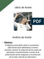 Análisis de Aceite