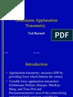 Goldmann tonometry