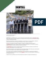 24-09-2014 El Occidental - Inauguró Moreno Valle puente vehicular en Zaragoza.