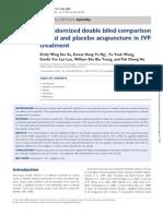 Estudo Randomizado Sobre Acupuntura Em IVF