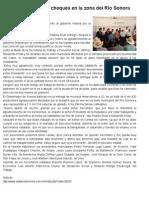 26-09-2014 Entrega Gobernador Guillermo Padrés, cheques en la zona del Río Sonora