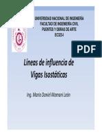 Lineas de Influencia Vigas Isostaticas