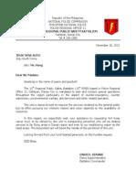 Request Letter (Korea)
