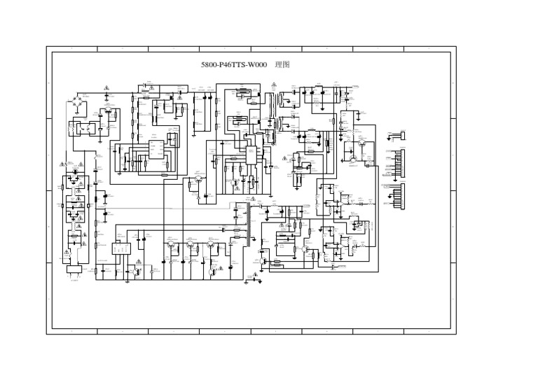 Hitachi Circuit Diagram Cdh-le42fd06 for 5800-p46tts-w000