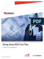 9. CMO Council Report -- Doing Away With Foul Play in Sports Marketing (Executive Summary)