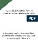 Power Point of Velocity Worksheet 1