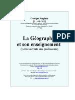 Geographie Et Son Enseignement