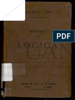 Resumen Sintetico de Lógica. MILL, John Stuart