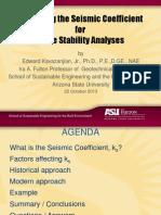 2013 Fall Seismic Coefficiente Kazvanjian
